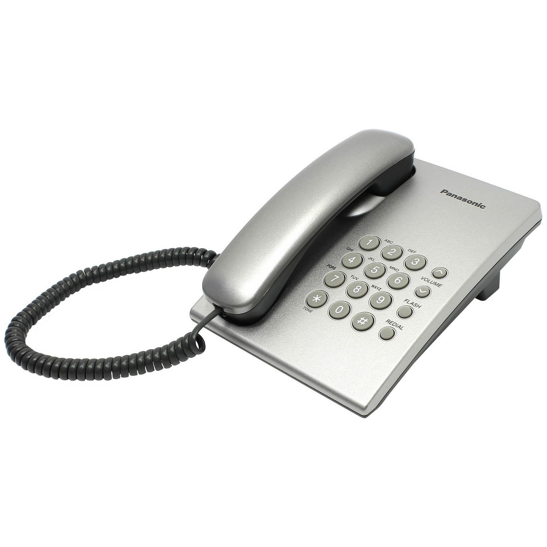 Проводной телефон Panasonic KX-TS2350 (серебристый)