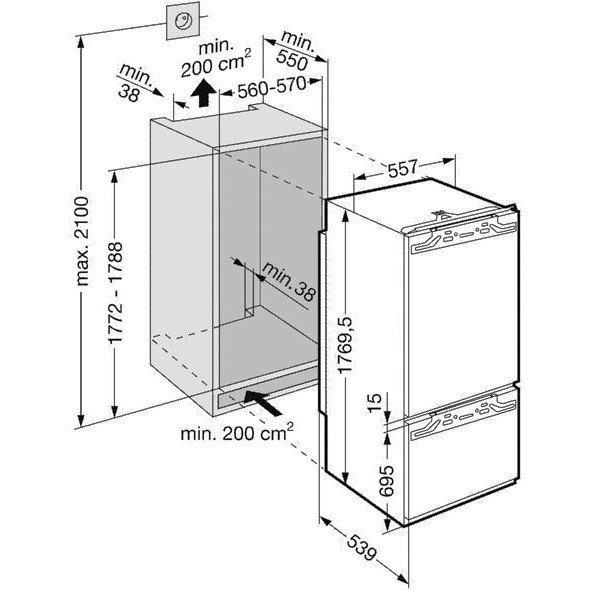 Встраиваемый холодильник Liebherr ICBN 3056