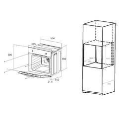 Духовой шкаф MAUNFELD EOEC 586 (белый)
