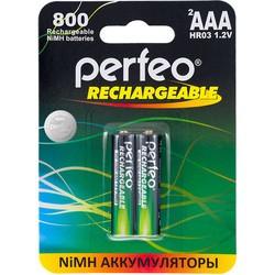 Аккумуляторная батарейка Perfeo 2xAAA 800 mAh