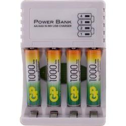 Зарядка аккумуляторных батареек GP CPB-2CR4 + 4xAAA 1000 mAh