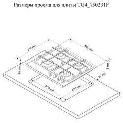 Варочная поверхность De Luxe TG4750231F (нержавеющая сталь)