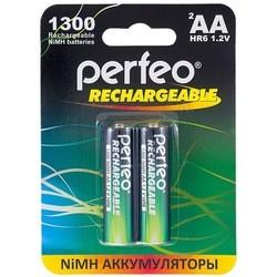 Аккумуляторная батарейка Perfeo 2xAA 1300 mAh