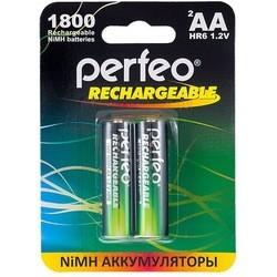 Аккумуляторная батарейка Perfeo 2xAA 1800 mAh