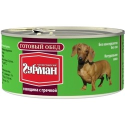 Корм для собак Chetveronogij Gurman Adult Ready Meal Beef/Buckwheat 0.325 kg